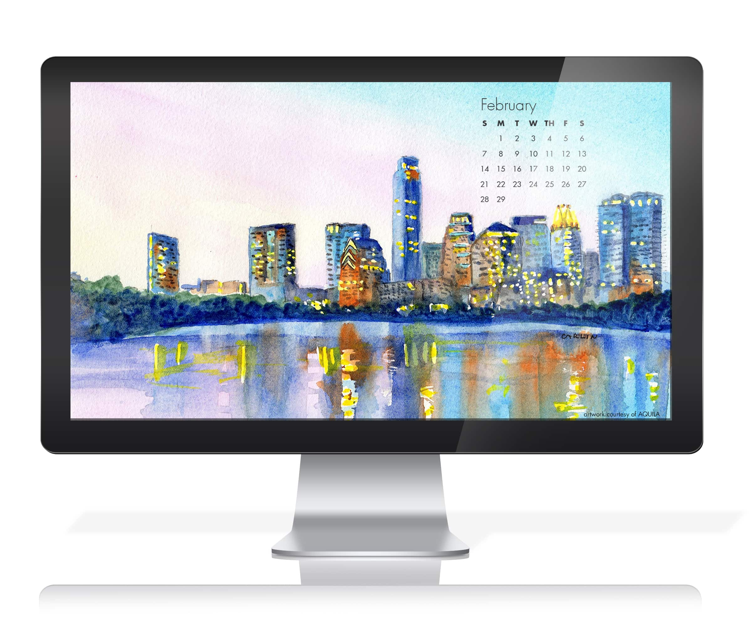 Desktop Background with Calendar by Carlin Blahnik