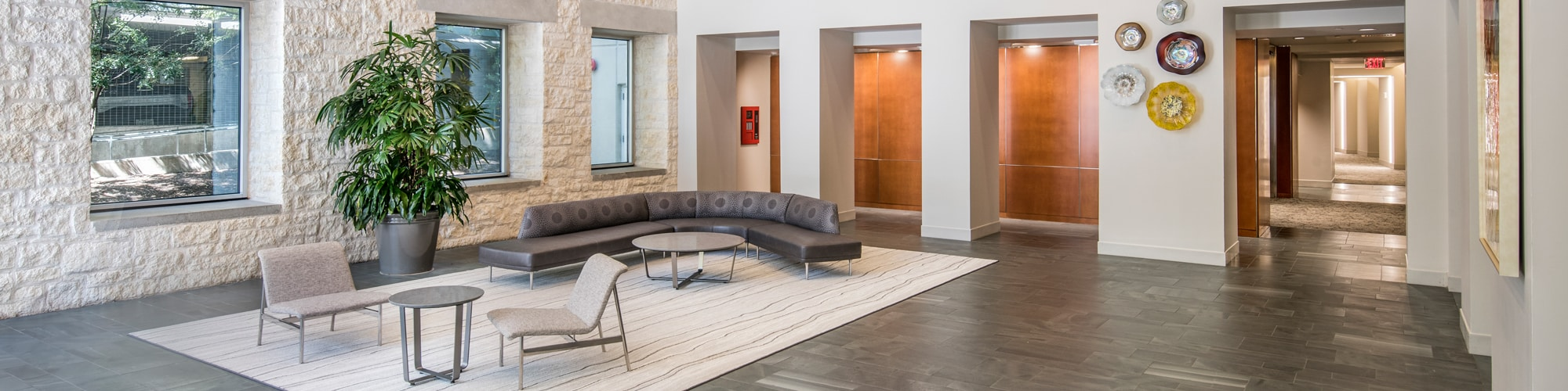 The Terrace Lobby | 2600 Via Fortuna Drive in Austin, Texas