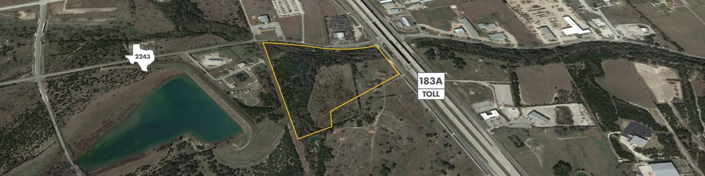 FM A Land For Sale In Leander Texas - 183a toll road map