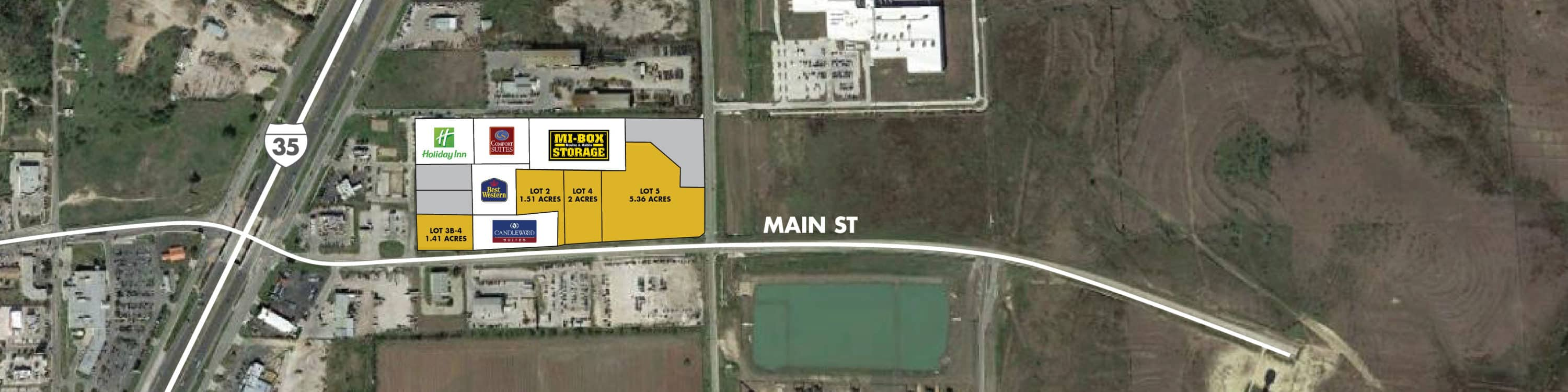Main Street Pad Sites | Land for Sale in Buda, Texas