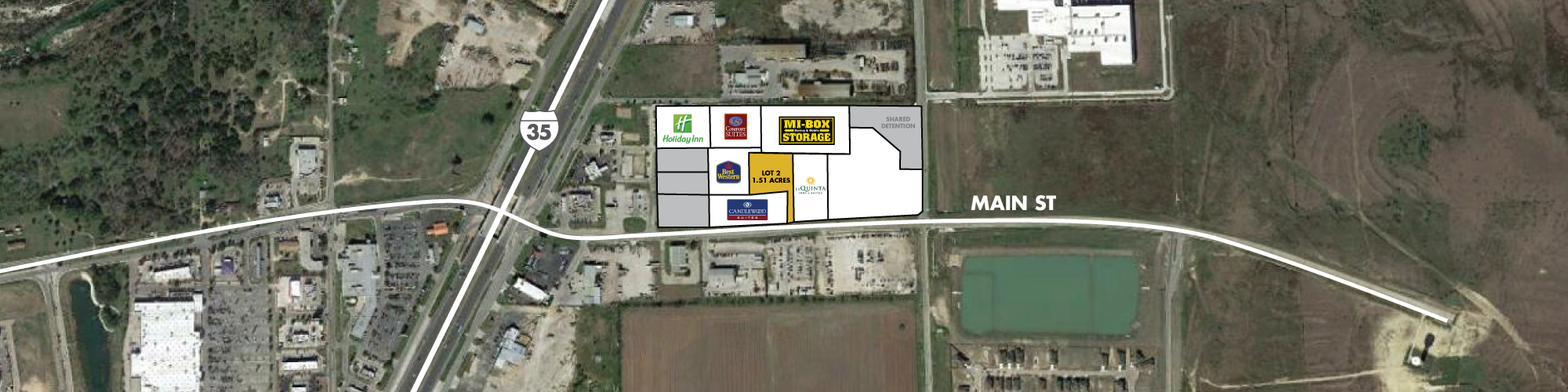 Main Street Pad Sites | Interstate 35 and Main Street