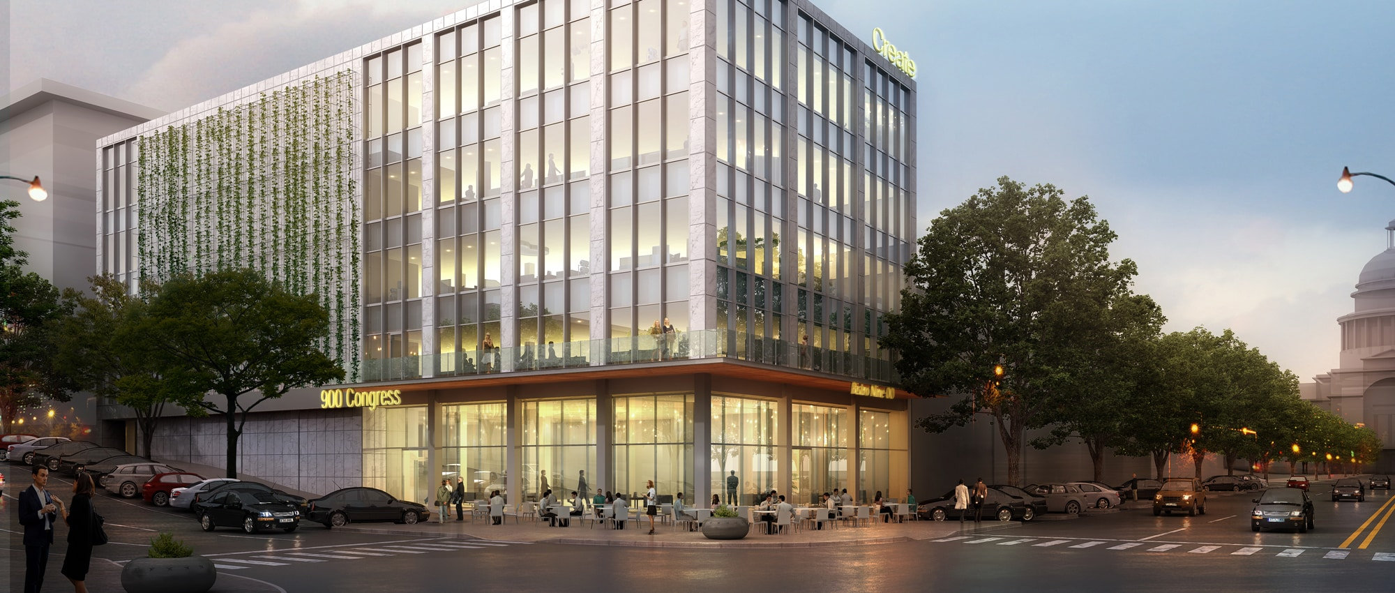 900 Congress New Building Exterior | Office Space for Lease in Austin, Texas