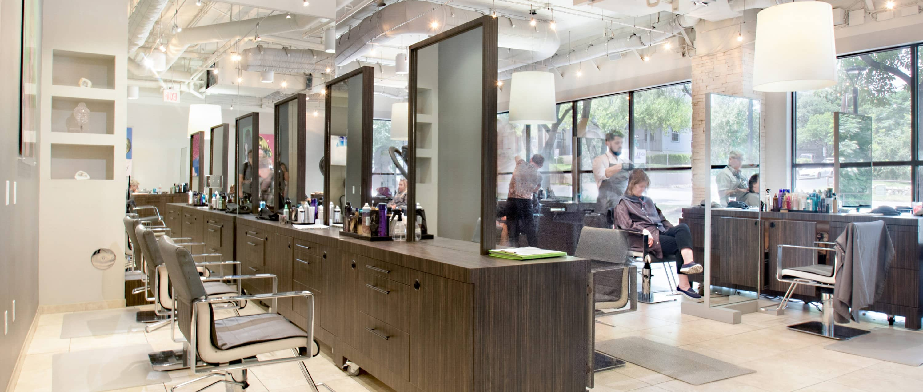 Hartland Plaza Retail | Jose Luis Hair Salon Interior in Austin, Texas