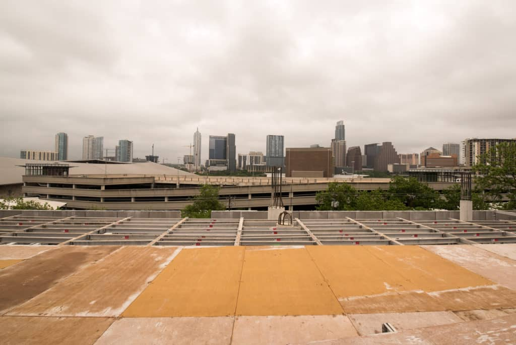 View of the Austin Skyline from the 801 Barton Springs Office Development Project
