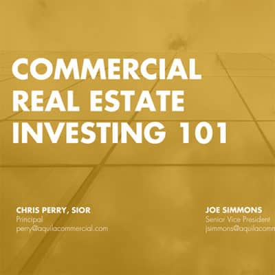 Commercial Real Estate Investing 101