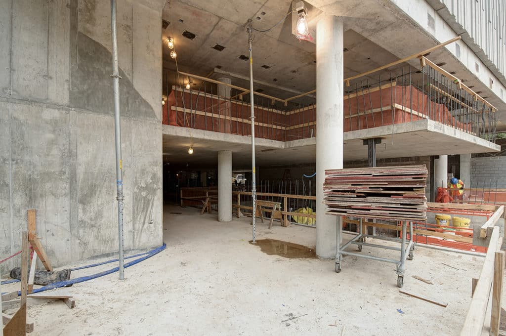 801 Barton Springs Office Lobby Construction Progress