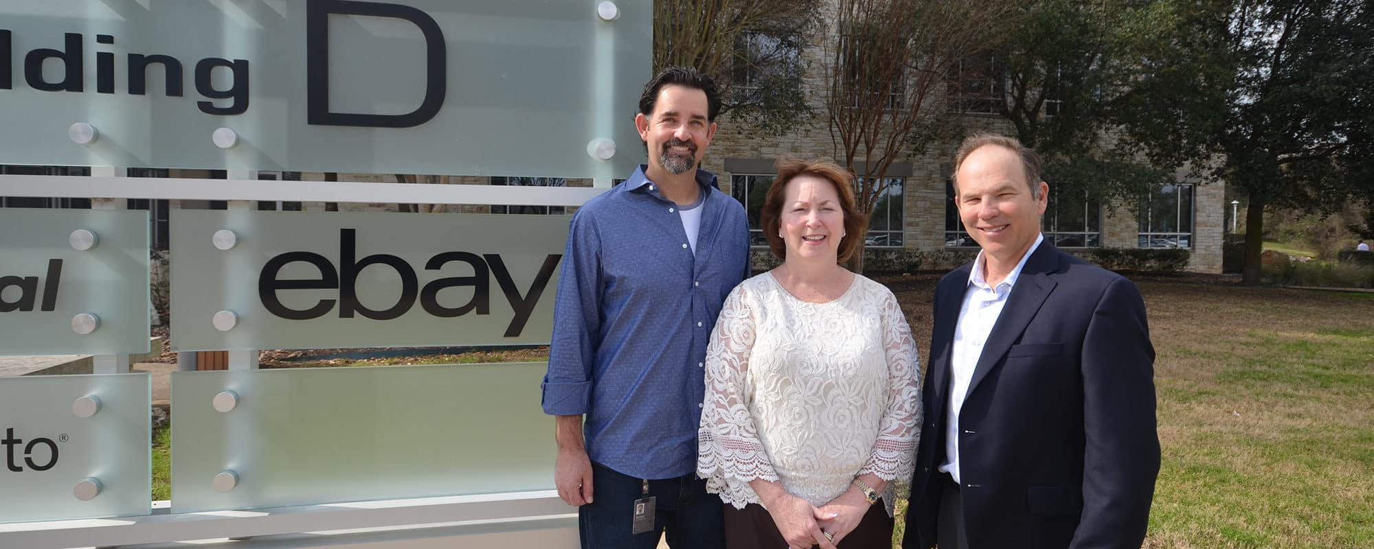 eBay signs lease at 7700 Parmer | eBay's Zachary Jacobson, Accesso's Kelly Smith and AQUILA's David Putman