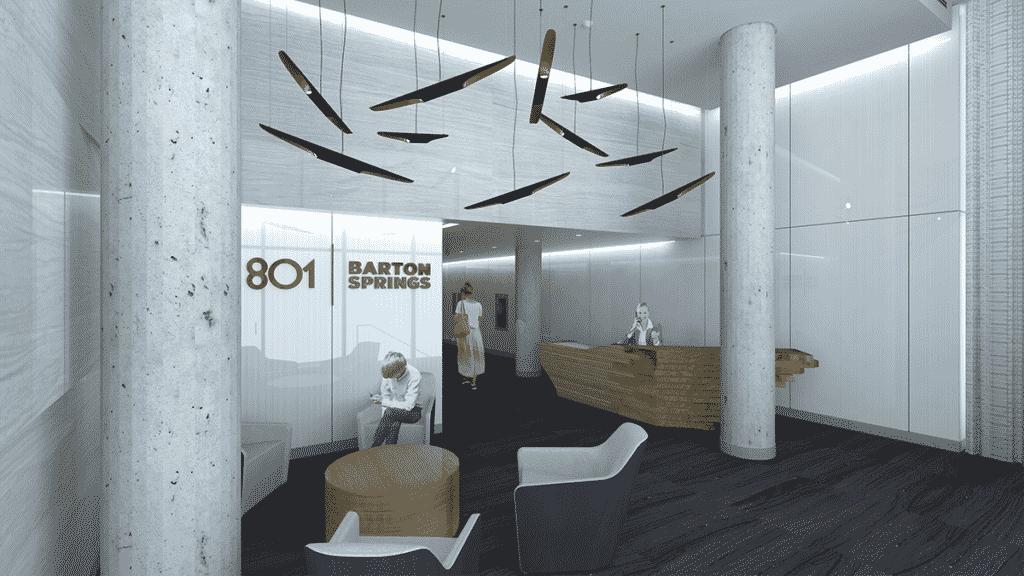 801 Barton Springs | Modern Lobby Renderings