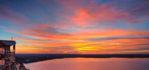 sunset over lake travis, texas | what to do & best of Lake Travis