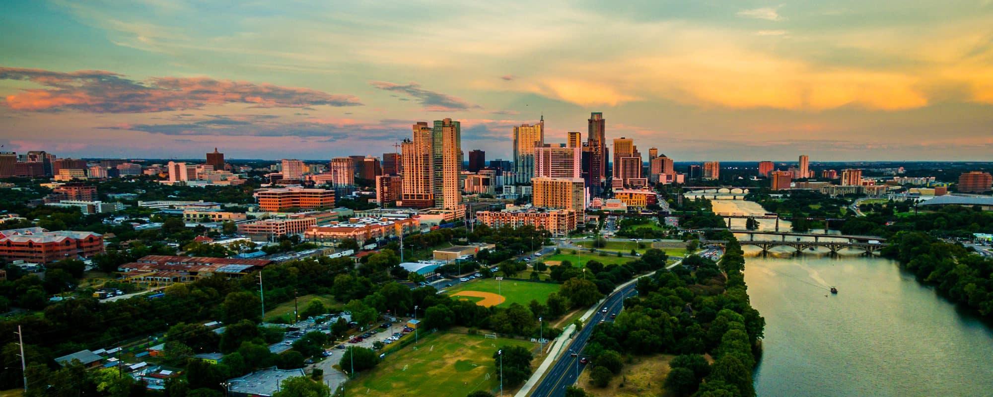 Downtown Austin Skyline and Lady Bird Lake