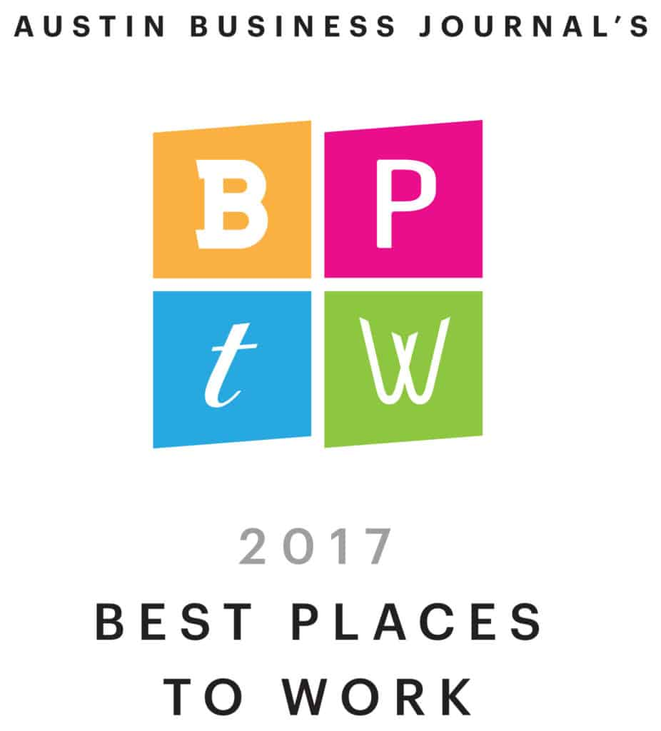 Austin Business Journal's Best Places to Work 2017 Winner Badge