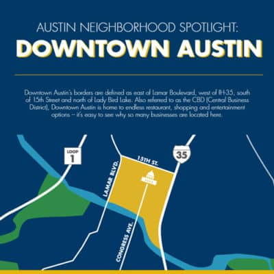 Downtown Austin, Texas Infographic
