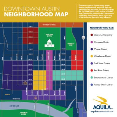 Downtown Austin Neighborhood Map