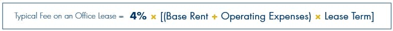 Typical Fee on an Office Lease