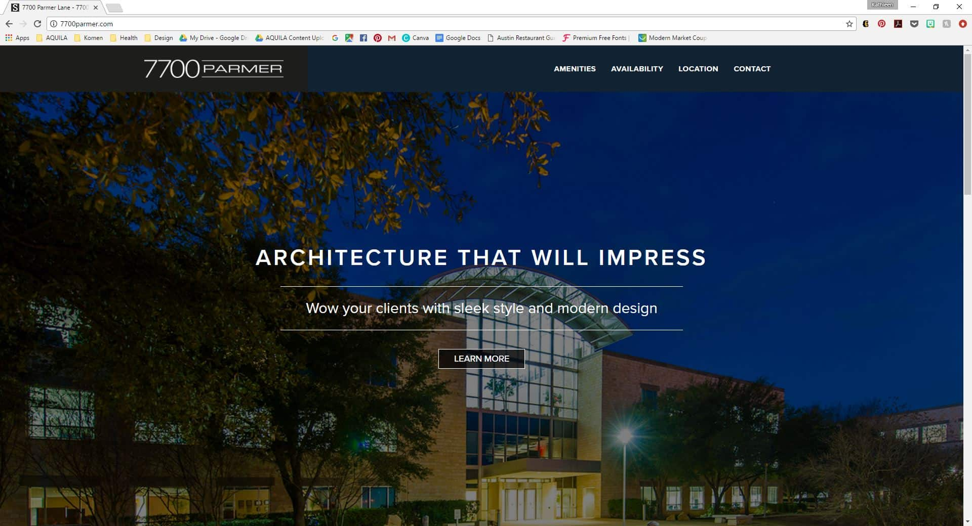 The 7700 Parmer website