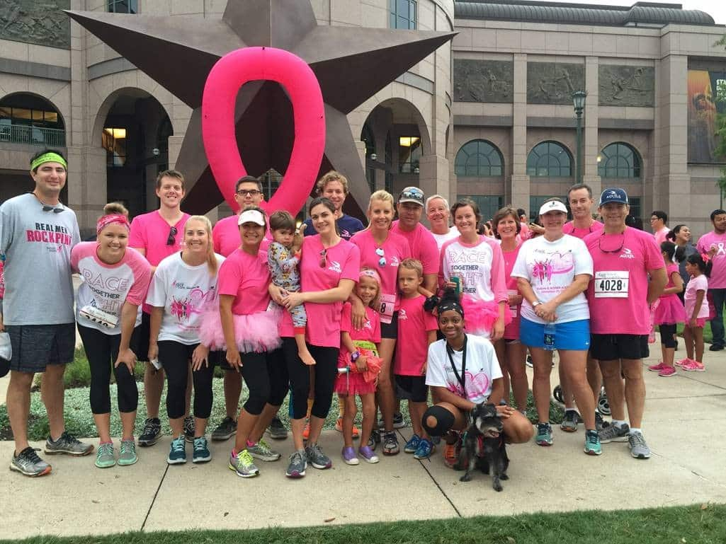 The AQUILA team at the 2016 Komen Austin Race for the Cure