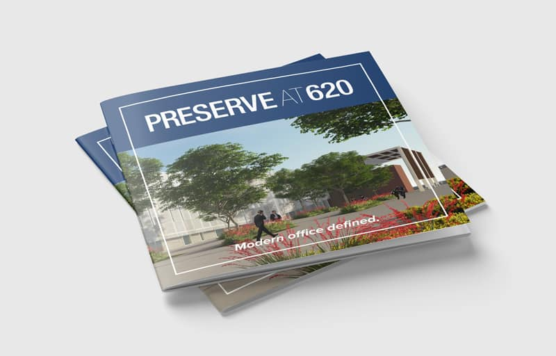 Custom brochure for Preserve at 620