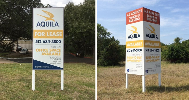 Single-faced 4'x8' sign vs. v-shaped 4'x8' sign