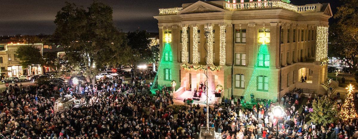 The Lighting of the Square. Photo courtesy of Rudy Ximenez (Community Impact)