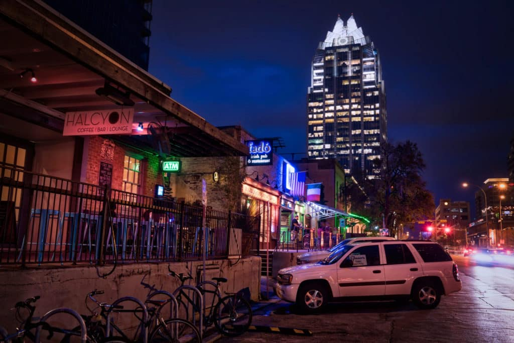 The Warehouse District in Austin, TX