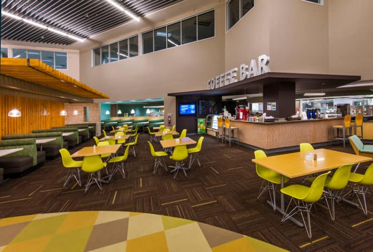 Cafe at 7700 Parmer Class A Office in Austin, TX | Class A v Class B Office