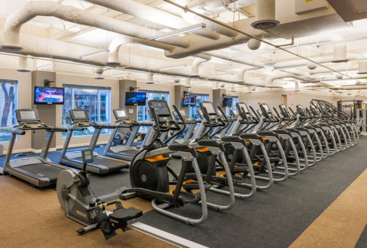 Fitness Center at 7700 Parmer Class A Office in Austin, TX