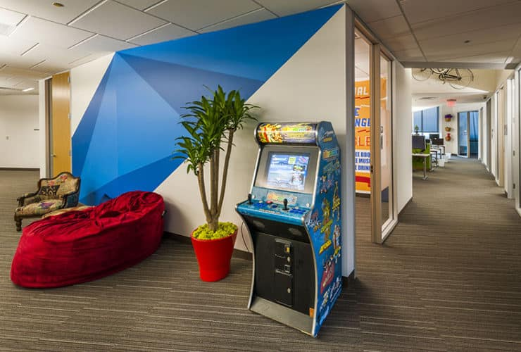 google office space. Open Floor Plans And Low-walled Workstations Are The New Trend In Creative Office Space. Google Space