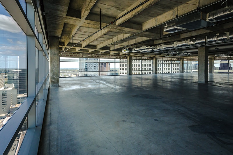 Shell Space at 210 West 7th Street in Austin, Texas ready for office build out