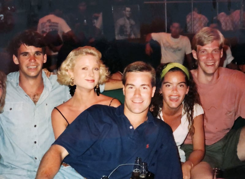 Chris Perry with College Friends