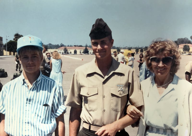 Chris Perry in Marine Corps