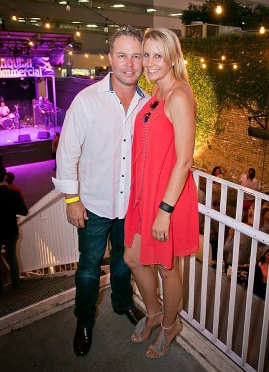 Kristi Svec Simmons with her husband, Cole Simmons at the AQUILA 10 Year Anniversary Party