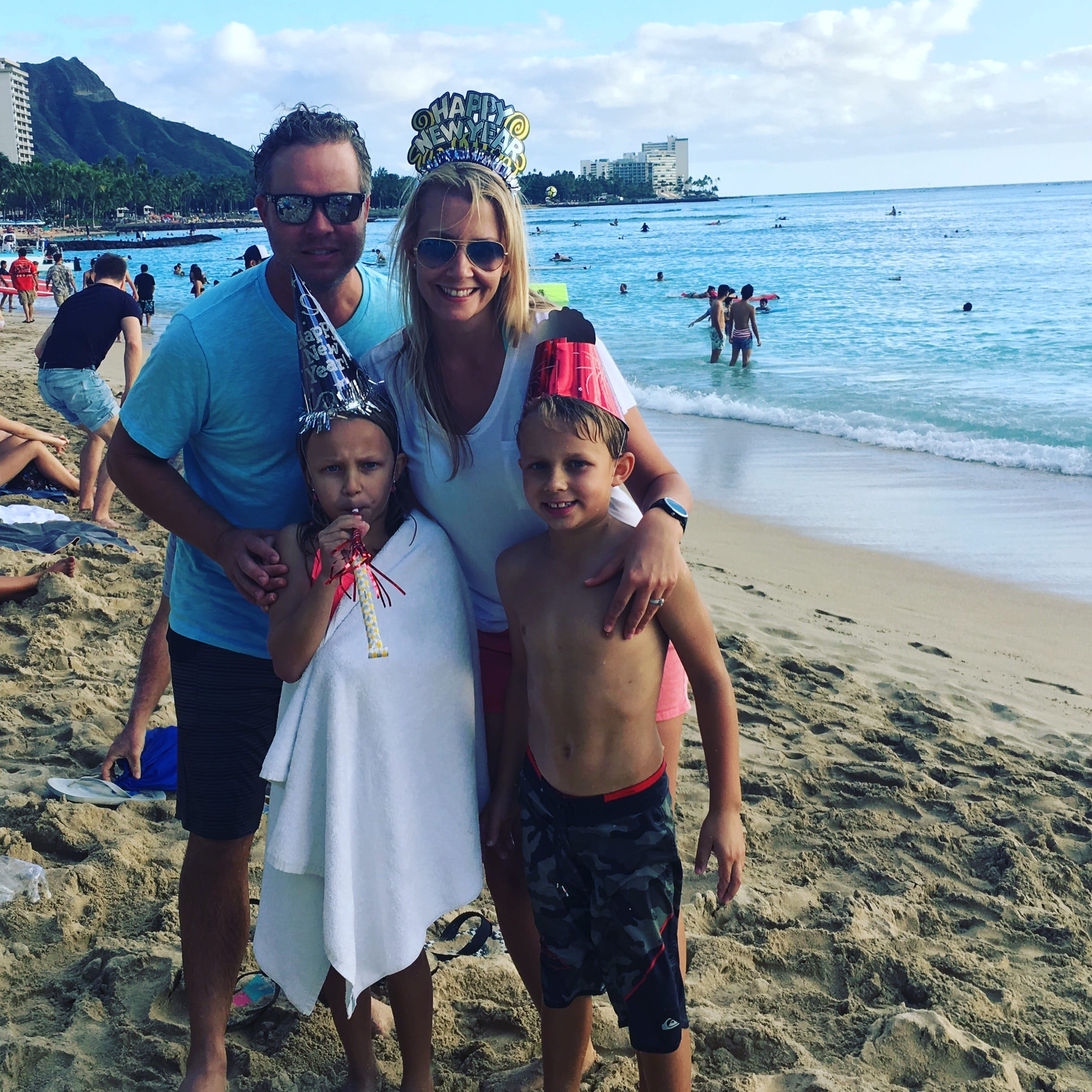 Kristi Svec Simmons in Kauai with family