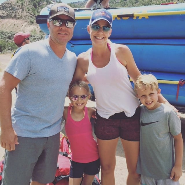 Kristi Svec Simmons and Family Rafting