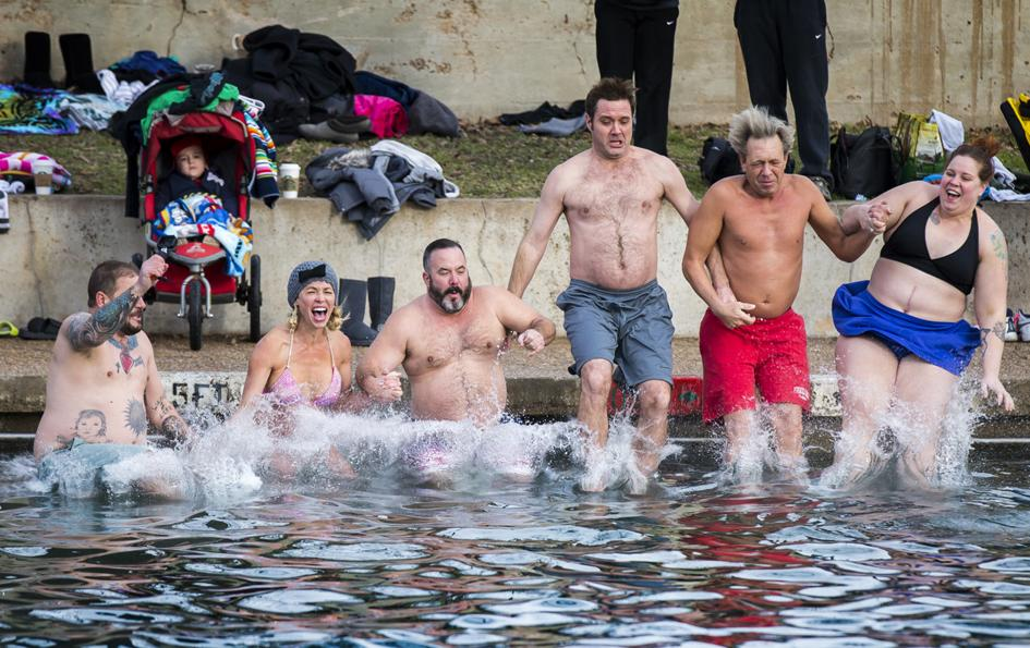 Polar Bear Plunge at Barton Springs in Austin, Texas | What to do in January in Austin