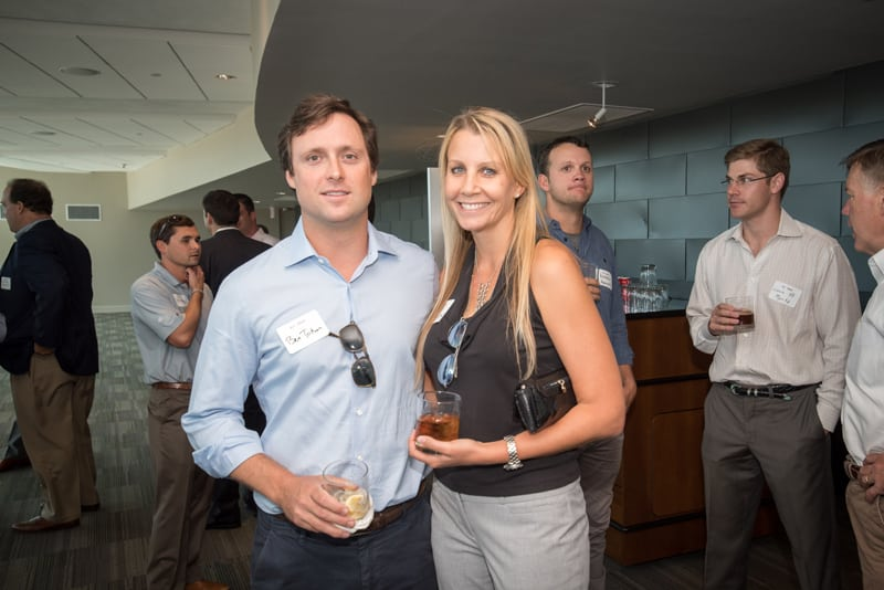 Ben with coworker Kristi Svec SImmons at the groundbreaking celebration for 801 Barton Springs
