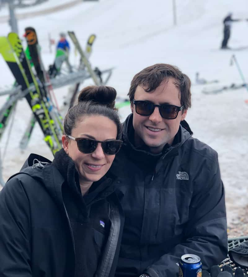 Ben Tolson, après ski in Aspen with his wife Katie.