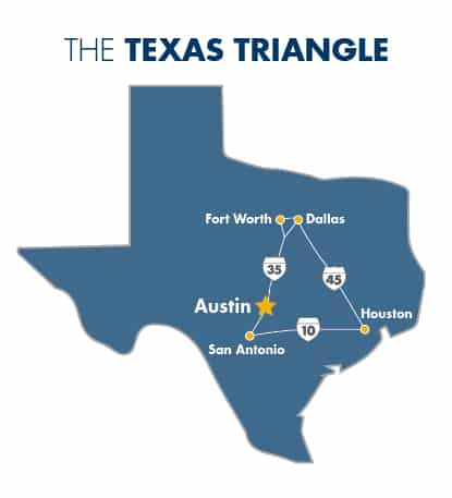 Texas Triangle | Austin's location makes it a best place to live in America