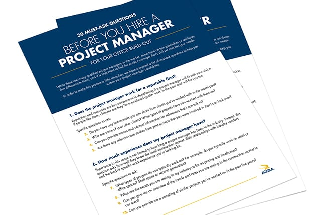 Questions to Ask Before Hiring Project Manager Construction