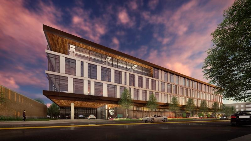 Main Street Hub HQ in Austin, Texas, designed for density