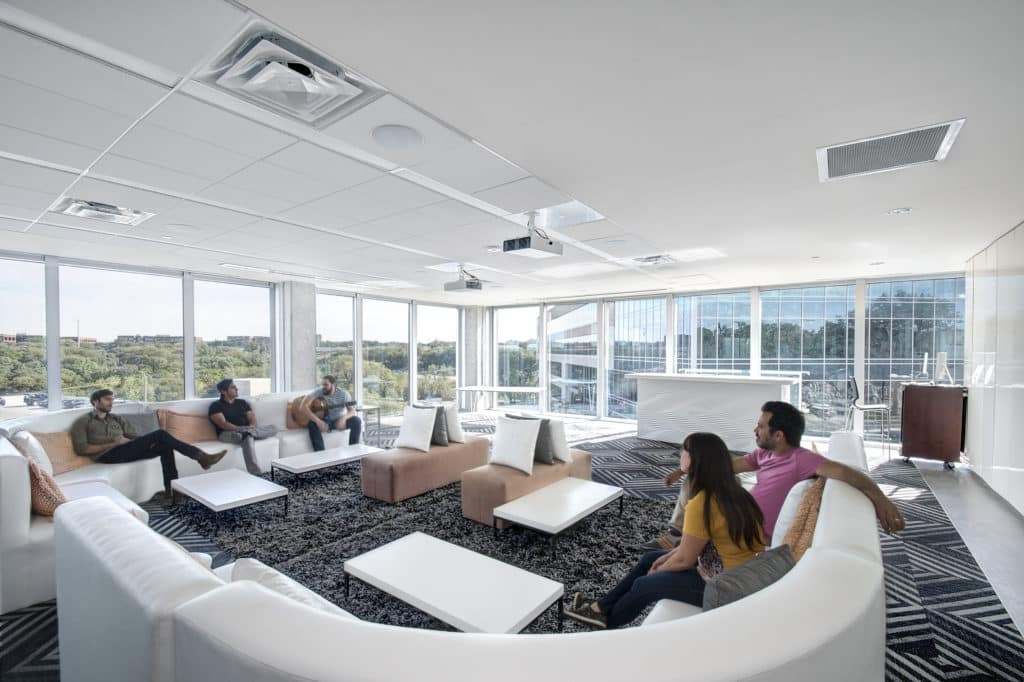 Common Areas in a Dense Office Space