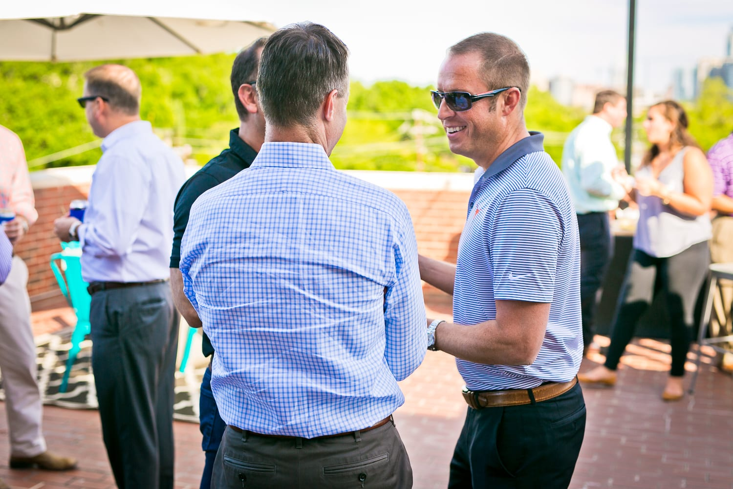 Chad Barrett at a client appreciation event.