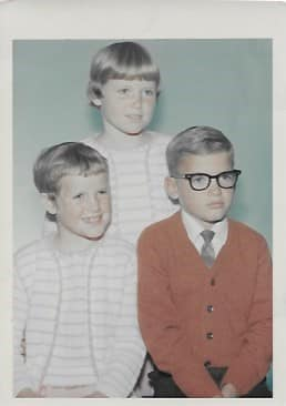 Mike Murphy with his siblings when they were young.