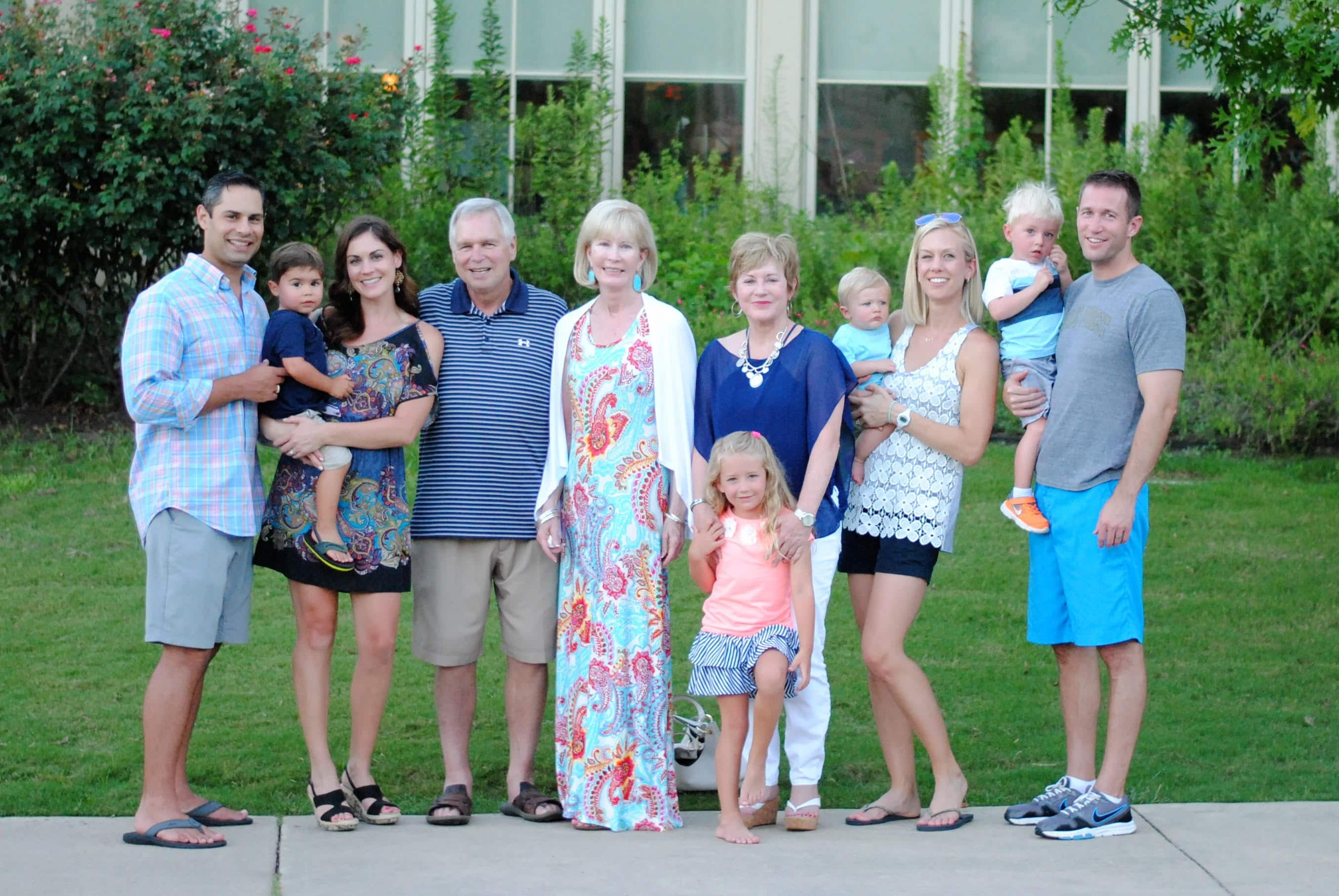 Bethany with her family at the Hyatt Lost Pines in Bastrop.