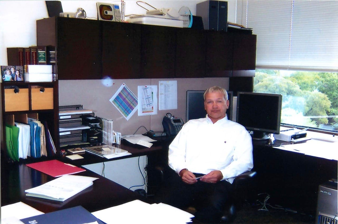 Mike Murphy in his office