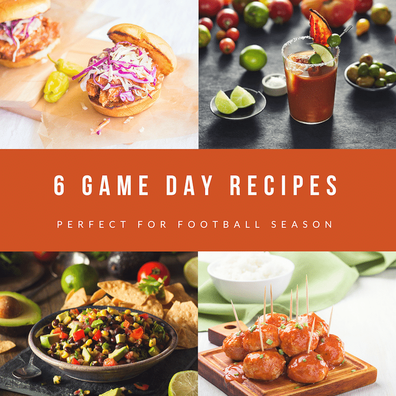6 Game day recipes
