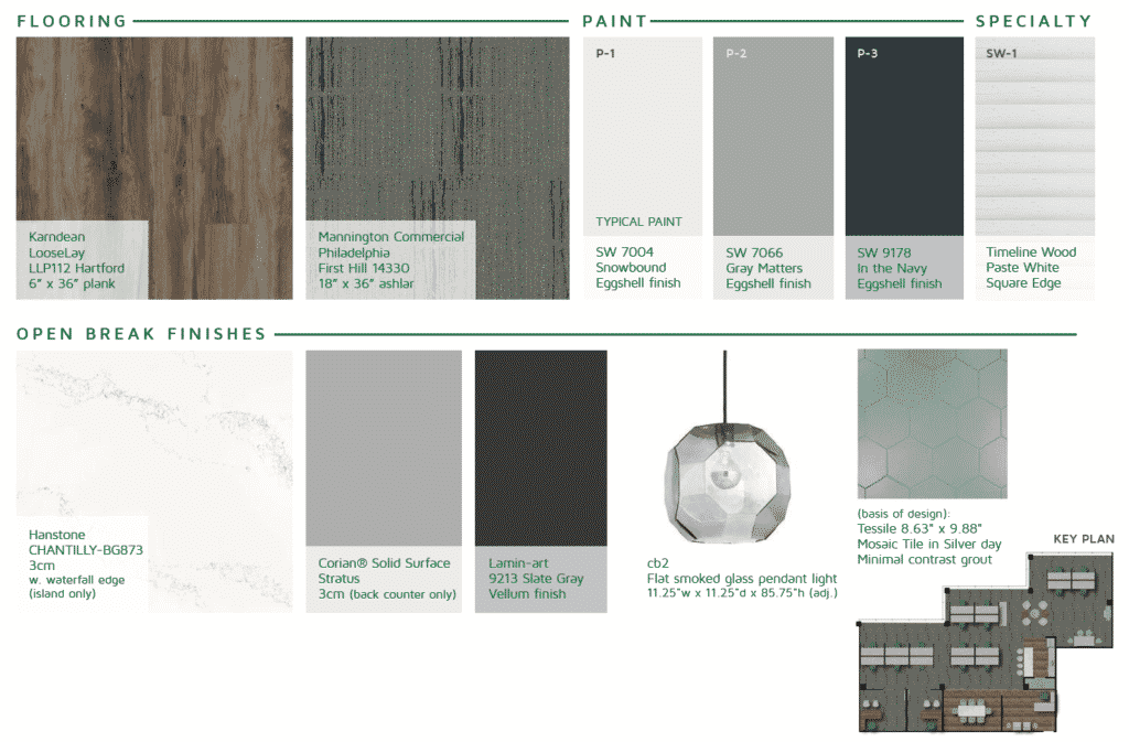 Materials Design Board | Office Build-Out Construction Process