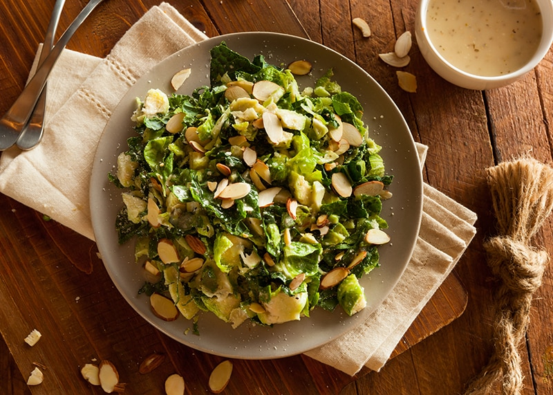 Kale and Brussels Sprout Salad | Thanksgiving Side Recipes from AQUILA