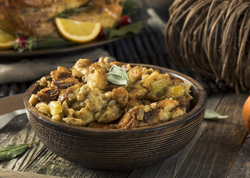 Homemade Stuffing | Thanksgiving side recipes from AQUILA