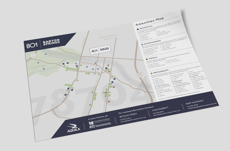 801 Barton Springs Amenities Map