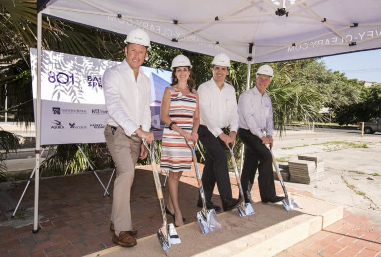 801 Barton Springs Groundbreaking with Chad Barrett, Bethany Perez, Joe Llamas and Bart Matheney